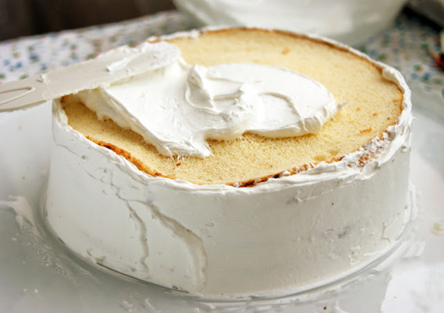 Бисквитный торт — «Земляника со сливками»