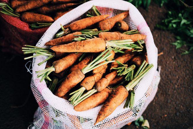 Морковь в мешке