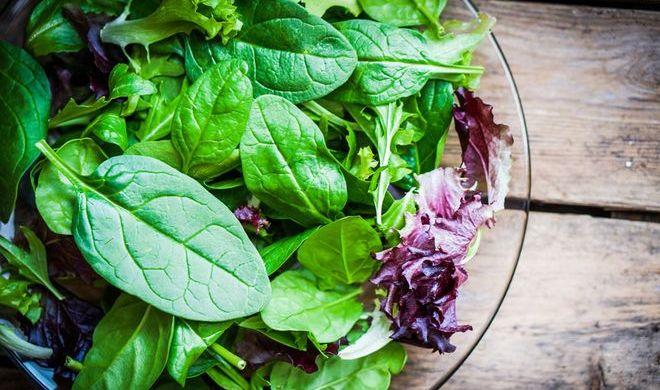 Салат из листьев