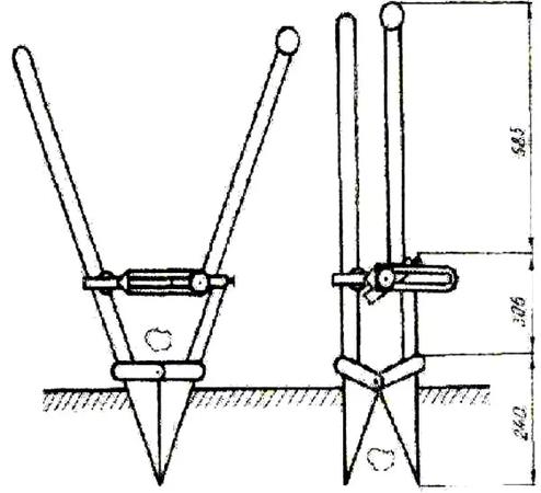 Чертеж лопаты для посадки картошки