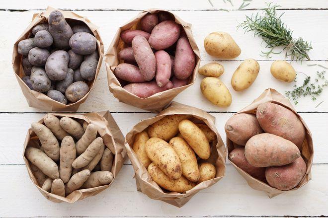 Разные виды картошки