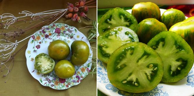 Как выглядит томат Киви в разрезе