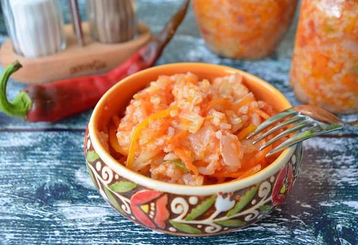 Закуска овощная с рисом