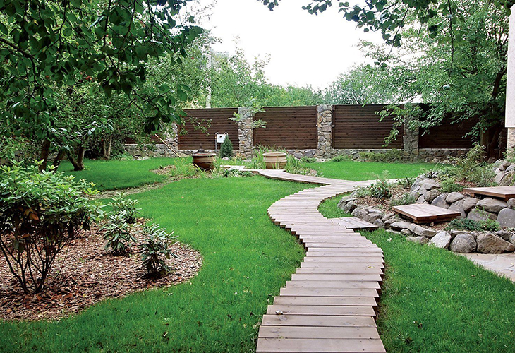 Уклон садовой дорожки