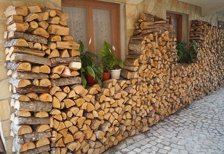 Стены из дров