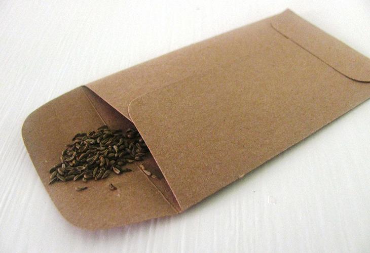 Хранение семян в бумаге
