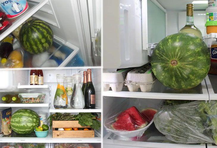 Хранение арбузов в холодильнике