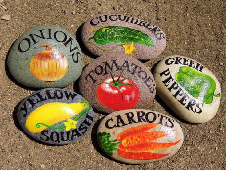 Маркеры для растений из камней