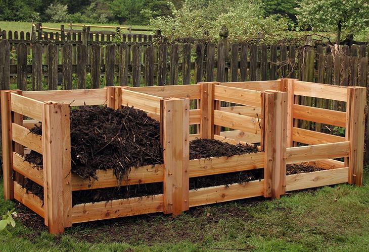 Ограда для компостной кучи