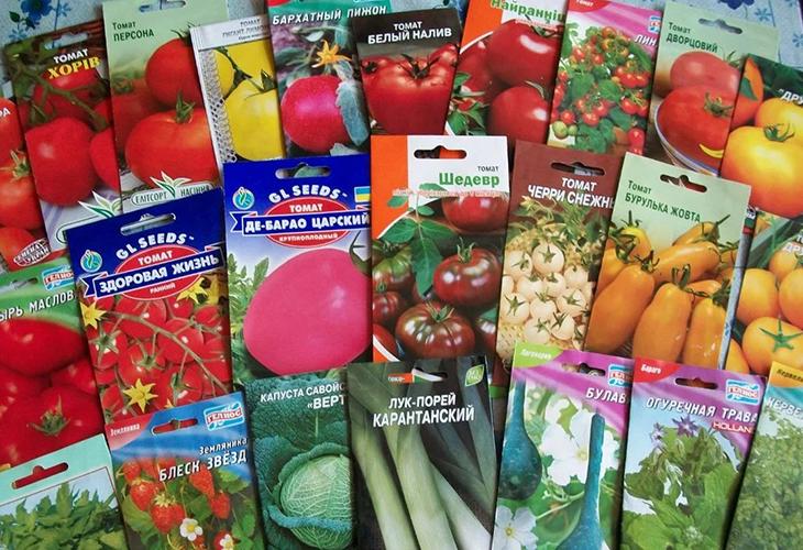 Фото на упаковке семян