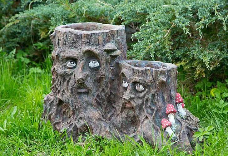 Скульптуры из пней