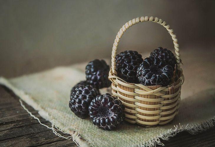 Ягоды черноплодной малины